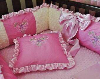 free babynest  with Custom Baby Crib Bedding set of 5pc, ready to ship