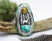 Semi Custom Woodland Inlay Ring Deposit