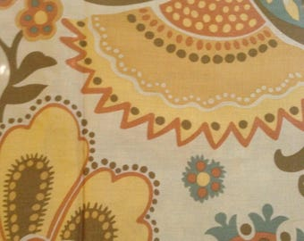 Retro Paisley Bouquet  - Cotton- Fabric-28 inches