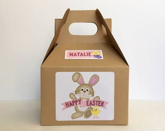 Easter party favors etsy personalized kids easter box easter party favor easter bunny favor box easter negle Images