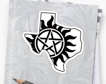 Vinyl Sticker - Texas Supernatural State