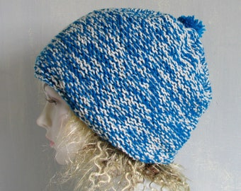 Slouchy Hat Slouch Beanie Cable Hand Knit Winter Women Teen Dreads Accessories Hat Blue  Autumn Chunky Women Knit Hat Kuffi Tam Hat