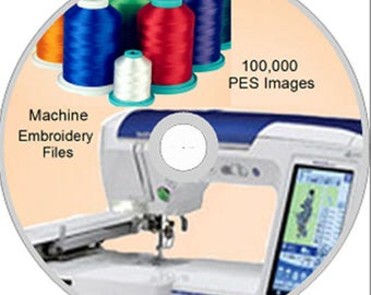 Machine Embroidery Designs 100,000 PES on DVD Disc - Brother / Babylock- WOW
