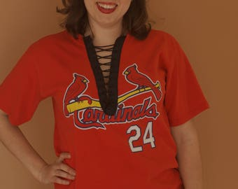 St.  Louis Cardinals Lace Up Tee