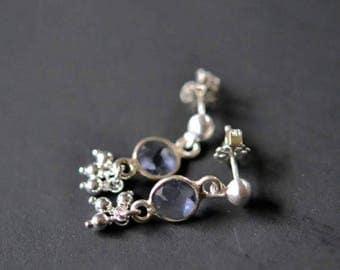 35% OFF iolite trill stud earrings
