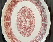 Syracuse China Strawberry Hill Pattern Oval Dinner Plate 17C