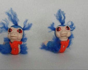 PRICE DROP!!! Labyrinth Worm. Life size. Hand rooted hair. Adorable. And a must have for Labyrinth fans.