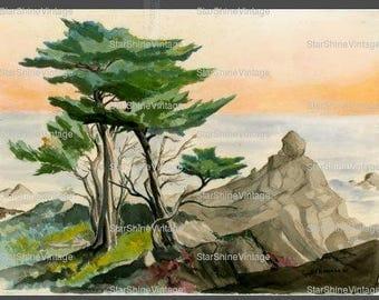 S.F.B Morse Cypress Pebble Beach Ca Original Painting