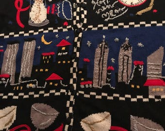 Ugly Sweater. Vintage New Years Sweater. New Years Eve. Ugly Holiday Sweater