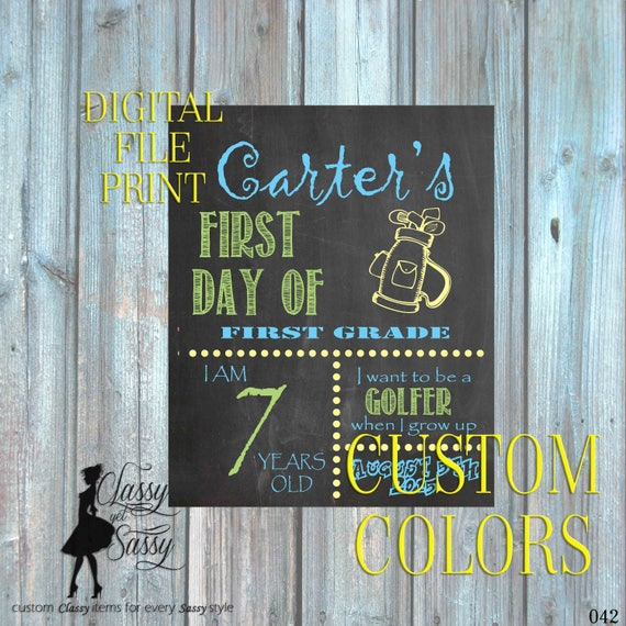 First Day Of School Chalkboard Sign 042