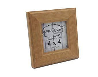 4x4 Moab picture frame - Natural Alder - Instagram, Home Decor, Wedding Favors, Wall Decor, Solid Wood, Handmade, Free Shipping