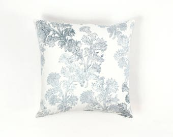 John Robshaw Pushpa Custom Pillows for Duralee 21039 (shown in Aqua-comes in 4 colors)