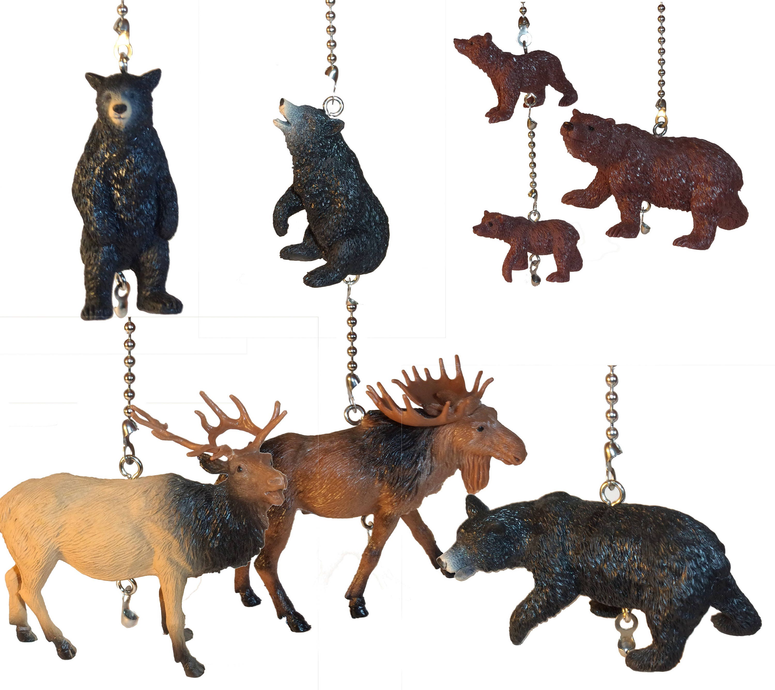 Wildlife Ceiling Fan Pull Ceiling Fan Pull Bears Elk Moose Man