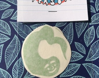 Smiling Lil Buddy Vinyl Sticker Pack 〰 Artist Made Sticker Pack 〰 Pack of 2 Waterproof Navy Blue/Leaf Green Vinyl Stickers