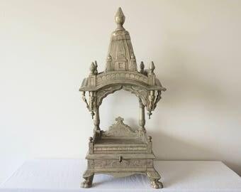 Mandir Silver Plated Altar Temple Display