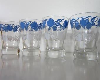 Vintage Juice Glasses, apple juice glasses
