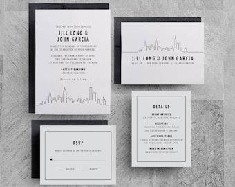 New York Wedding Invitation, Manhattan Wedding, New York City, Invitation Template, Printable, New York Save the Date, New York Event, Party