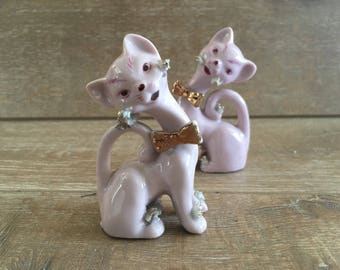 Cat Salt and Pepper Shakers Cats Cake Topper Mid Century Decor