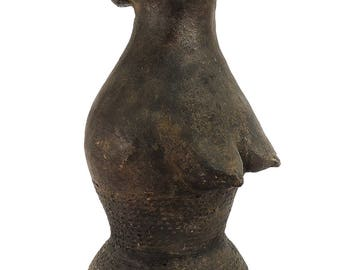 Mangbetu or Azande Clay Female Bust African Art 91023