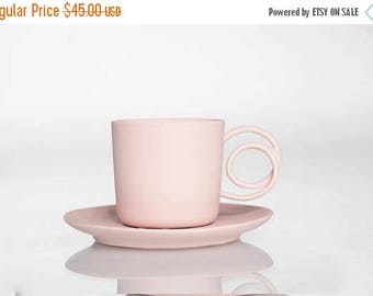 SALE Wire Handle espresso cup pink