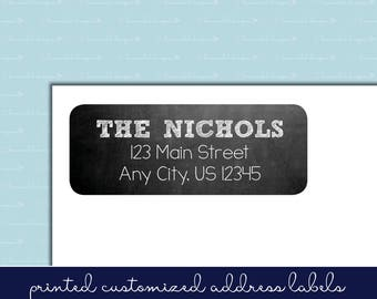 Chalkboard Return Address Labels