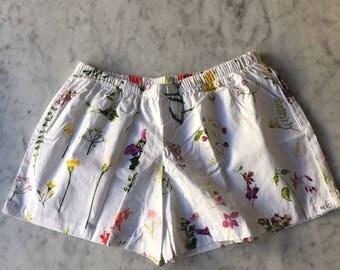 CUSTOM Bridesmaid Boxer Shorts. Womens Pajamas.  Boxer Shorts.  Womens Pajama Pants.  Bridesmaid Pajama Sets. Pajama Set. White Enchanted.