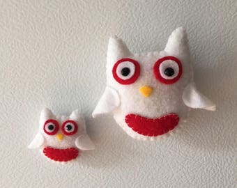 Owl Magnets 2 Piece Set