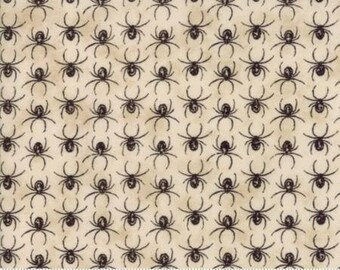 Eerily Elegant Parchment Spider Parade 19816 12 by Deb Strain for Moda