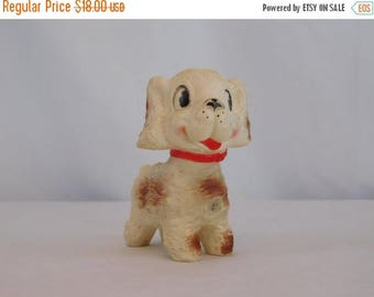 Birthday Sale 1958 Edward Mobley Puppy Squeak Toy Arrow Rubber And Plastic Corp