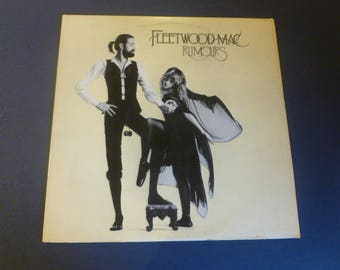 Fleetwood Mac Rumours Vinyl Record LP BSK 3010 Warner Bros. Records 1977 with Lyric Insert