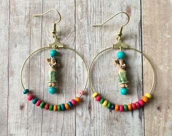Hula hoop earrings