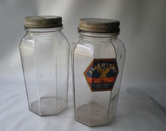 Two Beautiful Advertising Pickle Jars