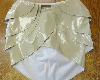 Beige PVC Lilith skirt V.2 XS from Artifice Lillith 4 layered mini skirt
