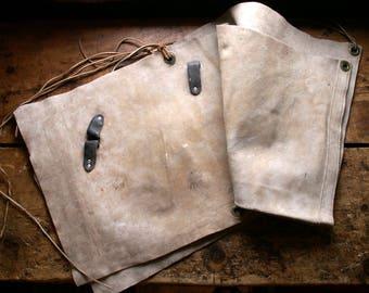 Vintage Leather Blacksmith Apron - Great Guy Gift