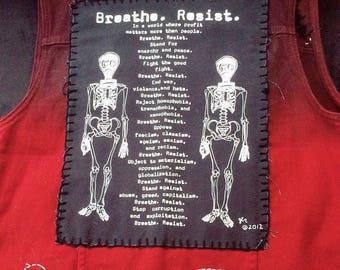 A revolution of peace jean vest