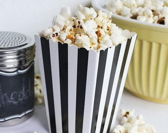 GLAMSALE 75 Black Stripe Mini Popcorn Boxes, Wedding Favor Boxes,  Party Favor Boxes, Wedding Snack Boxes, Candy Boxes, Cookie Boxes, Treat