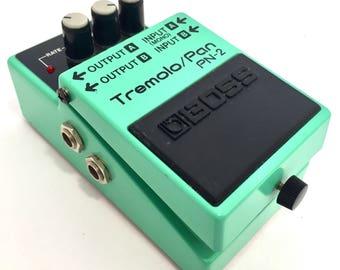 Classic Green Boss PN-2 PN2 Tremolo and Pan Guitar Pedal Effect vibrato