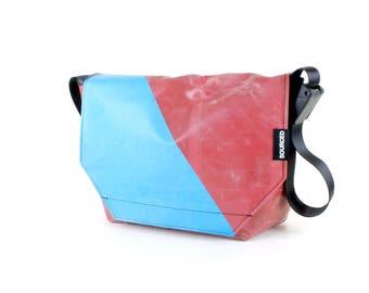 Large Messenger Bag made from Recycled Truck Tarp, Man Bag, Satchel Style Bag, MacBook Bag (61.07)