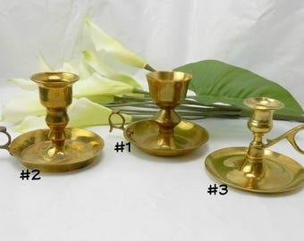 Vintage brass chamber sticks solid brass chambersticks brass candle holder taper candle holder brass candleholder vintage brass candlestick