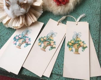 The Best Bookmark For A Flower Girl 3 Vintage Bridge Tally Cards