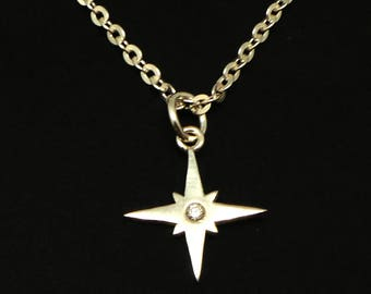 Silver Compass Necklace Pendant - Compass Jewelry, College Graduation Gift, Gift for student, travelers, sailor wife, high school