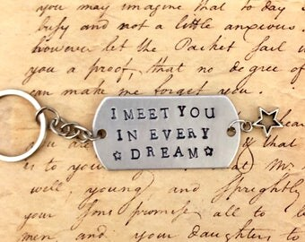 Alexander Hamilton letter to Eliza Schuyler I meet you in every dream Stamped quote keychain
