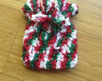 Crocheted Gift Bag/Potpourri Bag - Christmas  (0602)