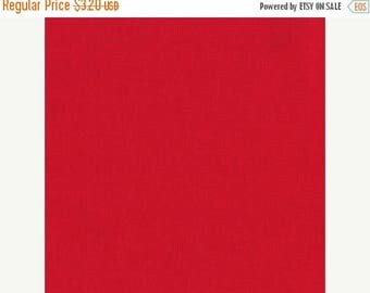 SALE Red, Kona Cotton, Robert Kaufman Fabrics, 1/2 Yard