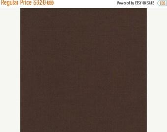 SALE Chocolate, Kona Cotton, Robert Kaufman Fabrics, 1/2 Yard