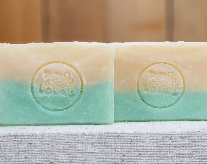 "Cucumber Melon Scented Soap ""Rosalind"" Soap Goddess Loves Shakespeare Soap, handmade vegetarian, lightly scented, yogurt soap, free shipping"