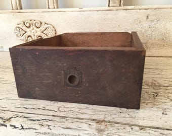Small Rustic Wood Box  - Perfect for Storage, Decor