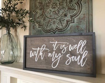 It is well with my soul  12x24