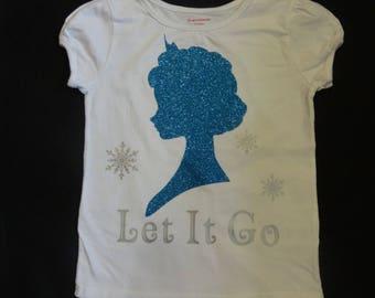 Elsa inspired shirt and matching tutu, custom listing for bullockshaaron1