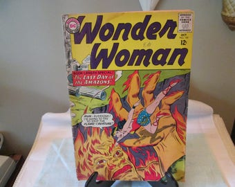 Vintage DC Wonder Woman Comic Book, Number 149, 1964, Comic Book Collector, The Last Day of The Amazon's